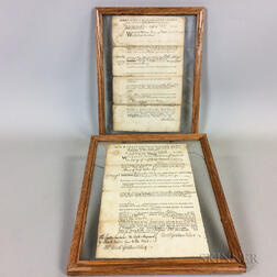 John Hancock, 1775, Judgment Document and Samuel Pemberton, 1756, Judgment Document