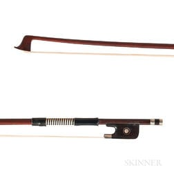 Nickel-mounted Violin Bow, Possibly Pfretzschner Workshop