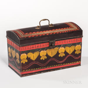 Large Painted Tin Document Box
