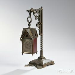French Gothic Carriage Clock with Stand