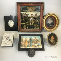 Seven Small Framed Items