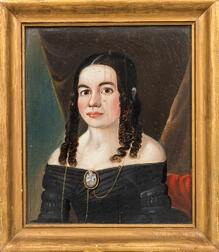 School of William Matthew Prior (American, 19th Century)      Portrait of a Young Woman
