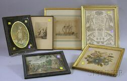Six Assorted 18th-20th Century Framed Items