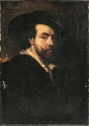 European School, 19th Century      Copy of Self Portrait (1623) by Peter Paul Rubens (Flemish, 1577-1640)