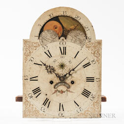 Southeastern Massachusetts Tall Clock Movement and Dial