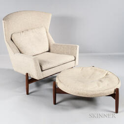 Jens Risom Lounge Chair and Ottoman