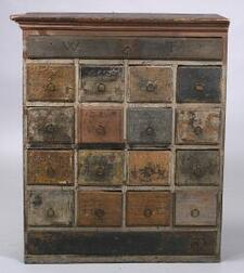 Painted Limner's Work Chest