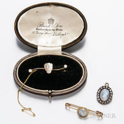 Three Moonstone Brooches