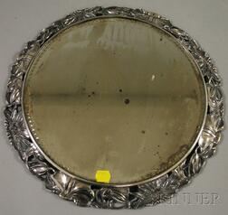 Pairpoint Mfg. Co. Silver Plated Daisy Pattern Mirrored Tableau