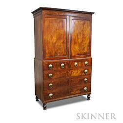 Classical Mahogany Linen Press