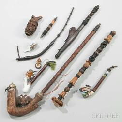 Ten German Pipes, Parts, and Accessories