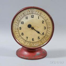 One Hand Clock Co. Red-painted Clock