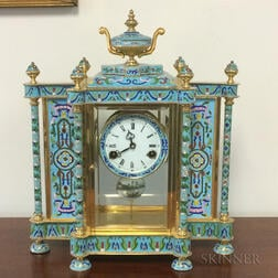 Cloisonne Striking Table Clock
