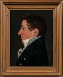 Benjamin Greenleaf (Massachusetts/New Hampshire, 1769-1821)      Portrait of Benjamin Willis