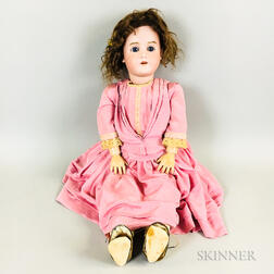 Large 30-inch Heinrich Handwerk/Simon & Halbig Bisque Socket Head Doll.     Estimate $300-500