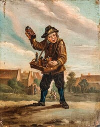 Manner of David Teniers II (Flemish, 1610-1690)      Quack Peddling Elixirs/An Allegory of Taste