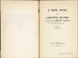Hughes, Langston (1902-1967) A New Song  , Signed Copy.