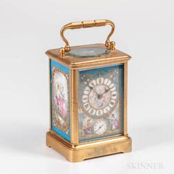 Porcelain Panel Hour-repeating Carriage Clock