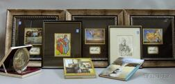 Eight Assorted Salvador Dali Related Books, Collectibles, and Framed Prints