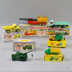 Six Meccano Dinky Toys Die-cast Metal Vehicles