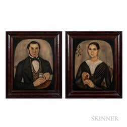 Thomas Skynner (act. 1840-1852)      Portraits of Mr. and Mrs. Jacob Conklin