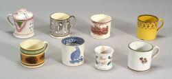 Eight English Pottery Children's Mugs