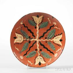 Slipware-decorated Plate