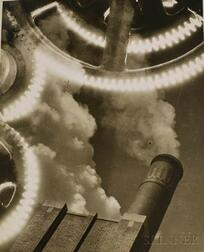 Attributed to William M. Rittase (American, 1894-1968)      Photomontage with Smokestack
