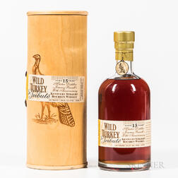 Wild Turkey Tribute 15 Years Old, 1 750ml bottle (ot) Spirits cannot be shipped. Please see http://bit.ly/sk-spirits for more info.