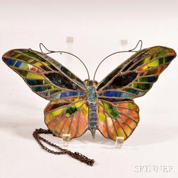Stained Glass Moth-form Lamp Screen