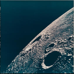 Apollo 12, Lunar Nearside Looking Northeast Toward the Crater Copernicus (NASA AS12-47-6876), November 1969.