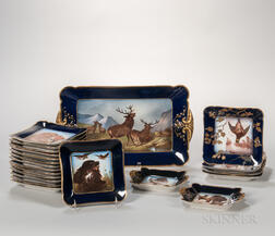 Assembled Twenty-one-piece Haviland Limoges Porcelain Game Set