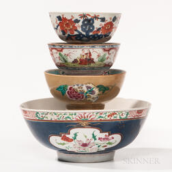 Four Export Porcelain Bowls