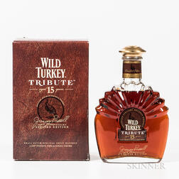 Wild Turkey Tribute 15 Years Old, 1 750ml bottle (oc) Spirits cannot be shipped. Please see http://bit.ly/sk-spirits for more info.