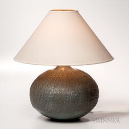 Makoto Yabe (1947-2005) Art Pottery Table Lamp