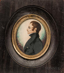 Attributed to James H. Gillespie (British/American, 1793-after 1849)      Portrait of Reverend Thomas S. Savage