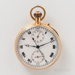 18kt Gold Open-face Pocket Chronograph