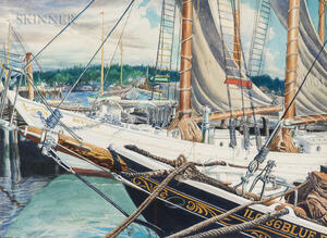 John Rutherford Boyd (American, 1884-1951)      Dockside View