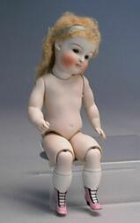 Large Kestner All Bisque Doll with Jointed Knees
