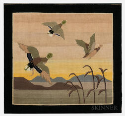 Large Grenfell-style Hooked Geese in Flight Mat