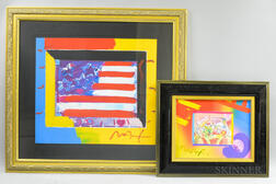 Two Framed Peter Max (New York, b. 1937) Mixed Media Works