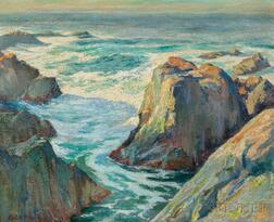 Edward Reynolds Kingsbury (American, 1855-940)      Glimpse of the Pacific