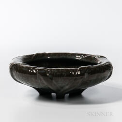 Fulper Pottery Arts and Crafts Folded-rim Bowl