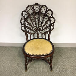 Heywood-Wakefield Fancy Wicker Chair