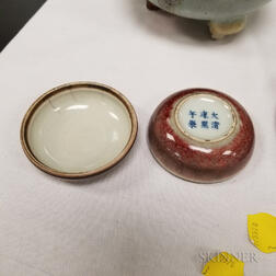 Two Peachbloom-glazed Porcelain Items