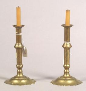 Pair of Early Georgian Tapersticks