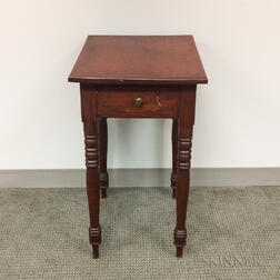 Late Federal Birch One-drawer Stand