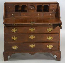 Chippendale Mahogany Carved Slant-lid Desk