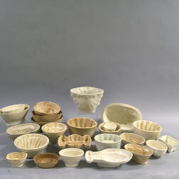 Twenty-four Creamware Culinary Molds