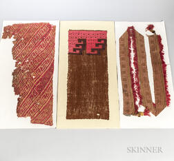 Three Chimu Textile Fragments